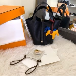 Authentic Hermes Picotin 18 Black Gold